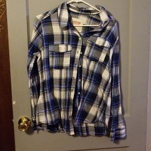 Mossimo large blue flannel